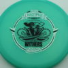 Gator - Glow Champion - Scott Withers - glow-blue - glow-champion - silver-fracture - black - 175g - 174-7g - somewhat-puddle-top - somewhat-stiff