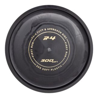 Prodigy Discs 300 Soft PA4 in black plastic with a gold stamp.