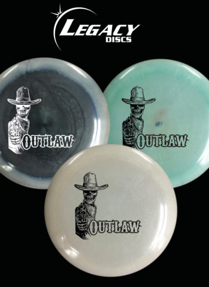 Limited Edition Pinnacle Outlaw - Smoke, Light Blue and White under a White Legacy logo, Black background