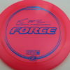 Force – Paul McBeth 4x – Z Line - pink - blue-pebbles - 173-175g - 174-2g - somewhat-domey - neutral
