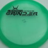 Phenom - blue-green - pinnacle - black - 304 - 175g - 178-5g - slight-dome-to-a-puddle-top-center - somewhat-stiff