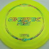 Crank SS - yellow - z-line - acid-party-time - 304 - 164-166g - 167-2g - somewhat-domey - neutral
