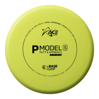 Ace Line by Prodigy Discs P Model S in yellow BaseGrip plastic.