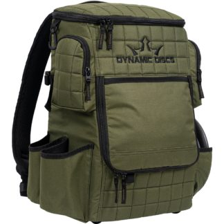 Dynamic DIscs Ranger Backpack in Olive.