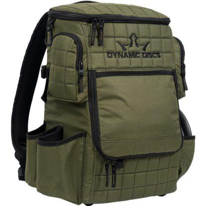 Dynamic DIscs Ranger Backpack in Olive.