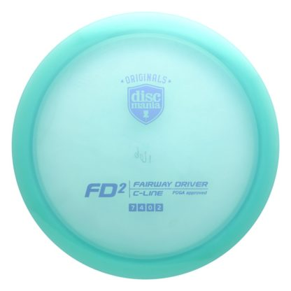 Discmania FD2 in teal C-line plastic.