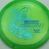 Phantom Warrior - Drew Gibson - green - teal-w-genuine-text - blue-pebbles - 174g - 174-1g - somewhat-flat - neutral