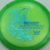 Phantom Warrior - Drew Gibson - green - teal-w-genuine-text - blue-pebbles - 174g - 174-2g - somewhat-flat - neutral