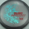 Phantom Warrior - Drew Gibson - gray - teal-w-genuine-text - red - 175g - 175-6g - somewhat-flat - neutral