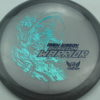 Phantom Warrior - Drew Gibson - gray - teal-w-genuine-text - blue - 175g - 175-9g - somewhat-flat - neutral