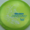 Phantom Warrior - Drew Gibson - yellowgreen - white - blue-pebbles - 175g - 178-3g - somewhat-domey - somewhat-stiff