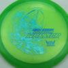 Phantom Warrior - Drew Gibson - green - teal-w-genuine-text - blue-pebbles - 173g - 173-6g - somewhat-flat - neutral