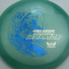 Phantom Warrior - Drew Gibson - blue-green - blue-pebbles - silver - 174g - 177-8g - somewhat-domey - pretty-stiff