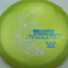 Phantom Warrior - Drew Gibson - yellowgreen - white - blue-pebbles - 175g - 178-2g - somewhat-domey - somewhat-stiff