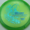 Phantom Warrior - Drew Gibson - green - teal-w-genuine-text - blue-pebbles - 174g - 173-5g - somewhat-flat - neutral