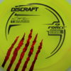 Force - Paul McBeth - 5x Signature Series Claw - yellow - black - red-fracture - 170-172g - 173-9g - neutral - pretty-stiff