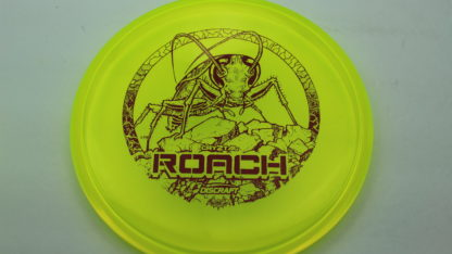Discraft CryZtal Z Roach in yellow plastic with red Les White stamp.