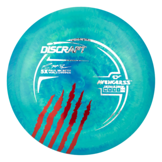 Discraft 5x McBeth Avenger SS in the swirly ESP plastic with the gorgeous claw stamp on the edge.