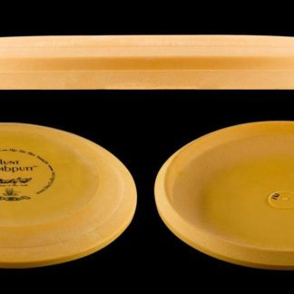 DGA Powerdrive Gumbputt in yellow Signature Line plastic with black stamp.