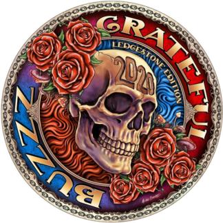 Discraft Ledgestone Full Foil Buzzz with Grateful Dead stamp.