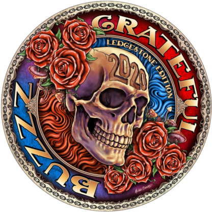 Discraft Ledgestone Full Foil Buzzz with Grateful Dead stamp.