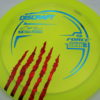 Force - Paul McBeth - 5x Signature Series Claw - yellowgreen - blue - red-fracture - 173-175g - 174-7g - pretty-domey - somewhat-stiff