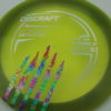 Force - Paul McBeth - 5x Signature Series Claw - greenorange-blend - silver - acid-party-time - 173-175g - 174-7g - somewhat-domey - somewhat-stiff