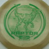 Raptor - Glo Sparkle - Ledgestone - light-peach - green - 173-175g - 174-6g - neutral - pretty-stiff