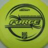 Force - Big Z - Ledgestone - yellow - black - 173-175g - 174-7g - pretty-domey - somewhat-stiff