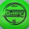 Force - Big Z - Ledgestone - green - black - 173-175g - 176-0g - pretty-domey - pretty-stiff