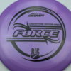 Force - Big Z - Ledgestone - purple - black - 173-175g - 174-9g - pretty-domey - pretty-stiff