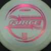 Force - Big Z - Ledgestone - white - pink-hexagons - 173-175g - 175-5g - pretty-domey - pretty-stiff