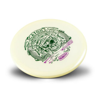 Innova flat top Glow Scott Withers Gater with green and purple stamp.