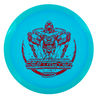 Innova Ricky Wysocki Robot Destroyer in blue Star plastic with a red stamp.