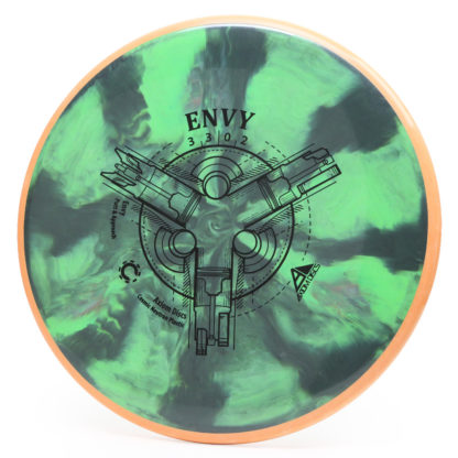 The Axiom Cosmic Neutron Envy in green and black swirls with orange overmold.