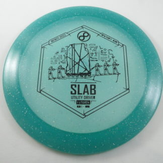 The Infinite Discs Slab in metal flake plastic with black stamp.