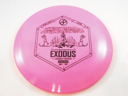 Infinite Discs Exodus in pink S-Blend plastic with black stamp.