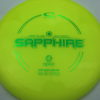 Sapphire - Stock Stamp - yellow - opto - green - 157g - 158-3g - somewhat-domey - somewhat-gummy