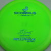Scorpius - Sirius - Gregg Barsby 2018 World Champion - light-green - sirius - blue-fracture - 152g - 153-2g - somewhat-flat - somewhat-stiff
