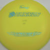 Ultralight Cannon - yellow - ultralight - teal-w-genuine-text - 136g - 137-0g - somewhat-domey - pretty-stiff