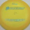 Ultralight Cannon - yelloworange - ultralight - teal-w-genuine-text - 136g - 137-0g - pretty-domey - somewhat-stiff