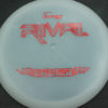 Rival - UItralight - white - ultralight - red-lines - 115g - 115-3g - somewhat-flat - pretty-stiff
