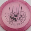 Infinite Discs Slab - pink - metal-flake-c-blend - black - 175g - 176-3g - super-flat - somewhat-stiff