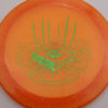 Infinite Discs Slab - orange - metal-flake-c-blend - green - 175g - 177-4g - super-flat - somewhat-stiff