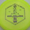 Infinite Discs Ra - yellowgreen - c-blend - purple - 180g - 180-1g - somewhat-flat - pretty-gummy