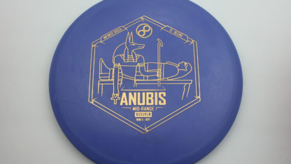 Infinite DIscs ANubis in Indigo plastic with gold stamp.