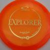 Emerson Keith Opto-X Explorer - orange - gold - 173g - 174-7g - pretty-flat - somewhat-stiff