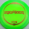 Raptor - green - z-line - red-squares - 304 - 170-172g - 173-0g - somewhat-domey - pretty-stiff