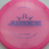 Justice - pink - lucid - light-purple - 304 - 173g - 174-8g - somewhat-flat - neutral