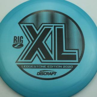 Discraft Ledgestone Big Z XL in blue plastic with black stamp.